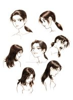 Face Studies- AU Wufei by SapphireGamgee