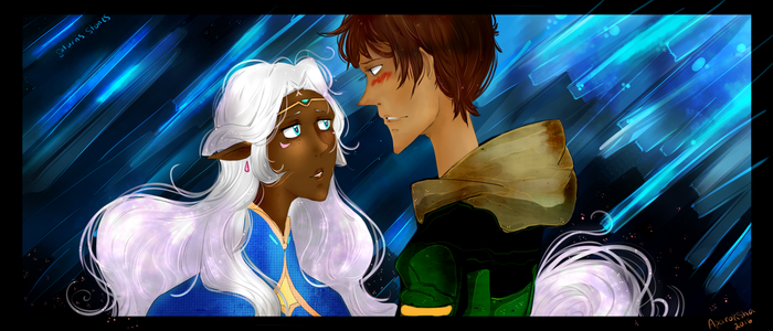 Lance/Allura: In Your Bright Blue Eyes... by CinnamonDreamers