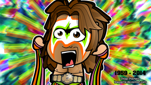 Ultimate Warrior 1959-2014 Chibi Wallpaper by kapaeme