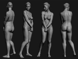 Quick Anatomy Study by Rishi-Raj