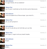 Thor and Loki FB convo 11 by JadenTheFangirl