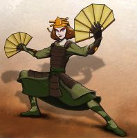 Suki the Kyoshi Warrior by TFRickert
