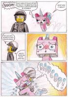 Bad Cop and Unikitty by killb94