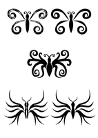 Butterfly tattos by Ajna357