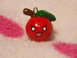 Cute Angry Apple Charm by Panduhmonium