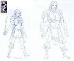 Rise of The Guardian - Before and After by female-muscle-comics