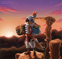 Breath of the Wild - Kass by Arabesque91