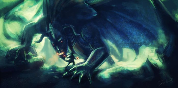 dragon slayer speed painting by barisgbo