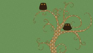 Two Owls in a Tree by surlana