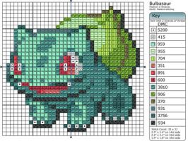 1 - Bulbasaur II by Makibird-Stitching