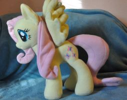 Fluttershy (open wing) by StitchCometCreations
