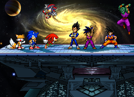Team Sonic vs Team Dragon Ball Z by AndreiConstantin