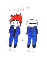 Chibi Reno and Rude by The-Reno-Club