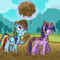 mud fight by CSImadmax