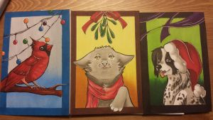 Copic Christmas Cards by shaina773