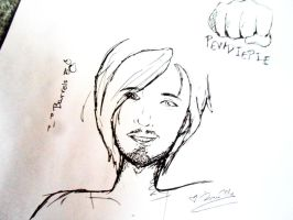 Sketches #3 : PewDiePie by xFionnax
