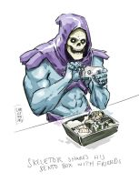 Skeletor uses Instagram too by vsRobots