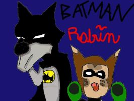 Batman and Robin by QweXTheXEccentric