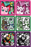 PMD-E Team Folder Icons by Galactic-Rainbow