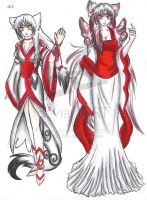 Okami outfits by CelestialBrush