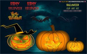 PSD File: CLIP-ART: HALLOWEEN KIT by CSuk-1T