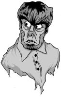 Lon Chaney Jr as Wolfman by zombie-you