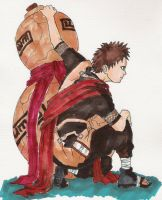Gaara of the desert by sharingandevil