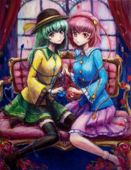 Komeiji Koishi and Satori by tafuto001
