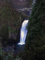 Multnomah Falls Lower by Cyberpriest