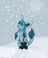 glaceon in the snow by khfanT