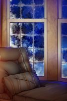Free Background - Winter Window by artofcarmen