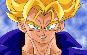 Trunks SSJ Coloured by YoungTalent93