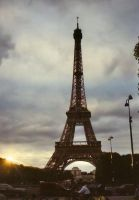 Eiffel Tower in Sunset by BrownWolfFM