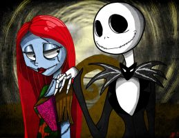 The Nightmare Before ChristmasJack and Sally by DarkMirrorEmo23