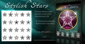 Stylish Star brushes pack by Andrei-Oprinca