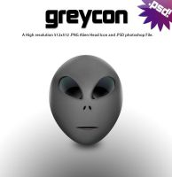 GreyCon Alien Head by johnamann