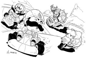 Mario Kart - Racing Rivals by LRitchieART