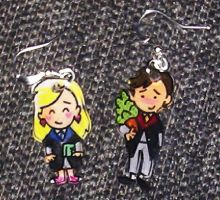 Kawaii Neville and Luna earrings by Lovelyruthie