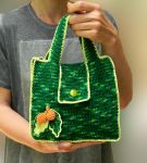Stylish green crochet handbag for women by YANKA-arts-n-crafts