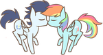 SoarinDash kissy by Color-Clouds