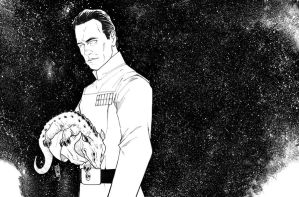 Grand Admiral Thrawn (inks) by Hodges-Art