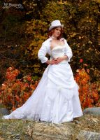 Steampunk wedding gown by Silver-Fyre