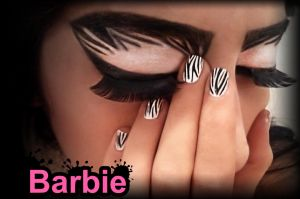 Zebra Nails by BarbieNailArt