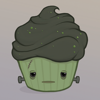 Frankenstein's Monster Cupcake by amandathompson