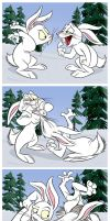 Snow Rabbits by SuperStinkWarrior