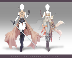 (CLOSED) Adoptable Outfit Auction 168-169 by Risoluce