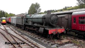GWR 4920 'Dumbleton Hall' at Buckfastleigh by The-Transport-Guild