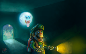 Luigi's Mansion, speed paint video by Siga4BDN