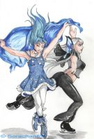 Kula and Luise - Ice Skating by Hanatsuki89
