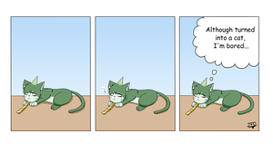 Blue Exorcist -Mini-Comic- Cat Amaimon 1 by JackFrostOverland